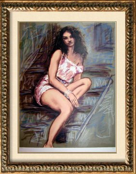 Sensual Woman Impressionism Limited Ed Signed Art Sale