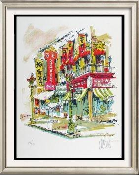 China Town Litho Colorful Ltd Ed Signed Art