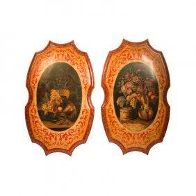 Decorative Shields With Still Life
