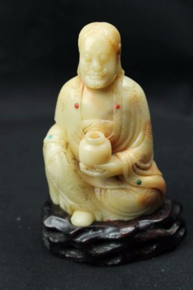 Chinese Shousan Stone Carved Pendant