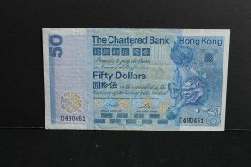 1982 Hk The Chartered Bank 50 Dollar