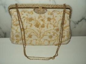 Walborg Made In France By Hand Beaded Bag 40-50s