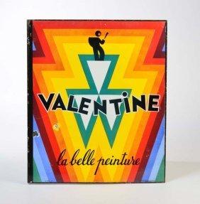 """Emailleschild """" Valentine"""""""