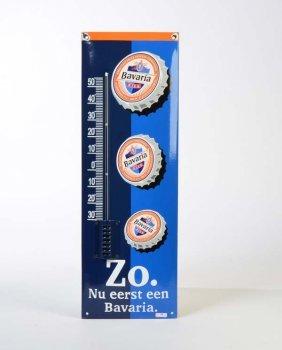 "Emailleschild ""bavaria Thermometer"""