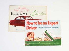 "2 Verkaufsprospekte ""ford Motor Company"" 1949 +"