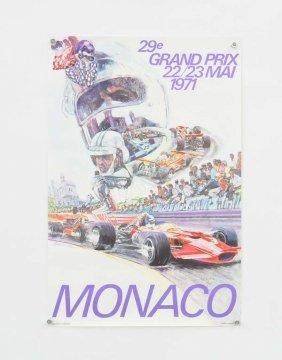 """Plakat """"monaco Grand Prix """" 1971"""