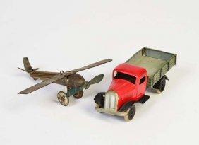 Lehmann U.a., Gnom Lkw + Penny Toy Flugzeug