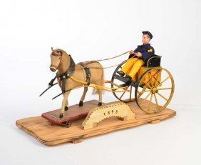 Bing, Post Einspaenner Mit Fell Pferd