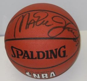 Magic Johnson Autograph Basketball