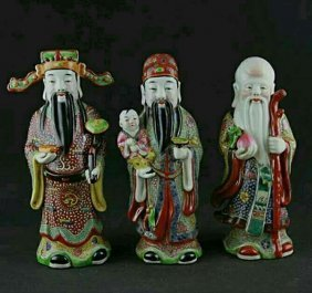 Republic Period Chinese Porcelain Fairy Figures