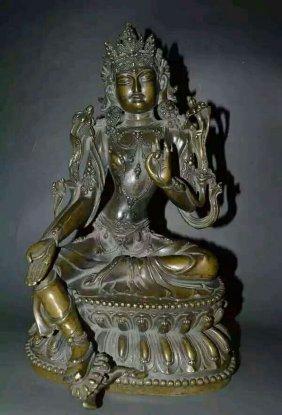 A Gilt Bronze Buddhist Figure