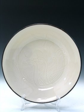 Chinese Ding Ware Porcelain Dish