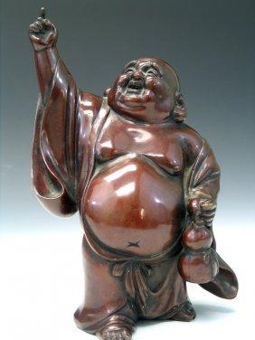 Chinese Bronze Figure Of Hotei