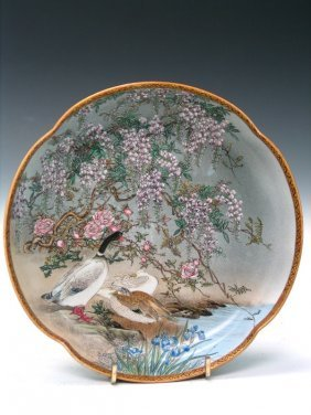 Japanese Kutani Porcelain Plate