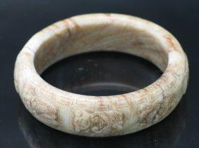 Antique Chinese Chicken Bone Jade Bangle