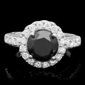14k White Gold 4.15ct Diamond Ring
