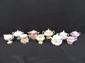 Ornate Floral Pattern Cream And Sugars, Some Rs Prussia