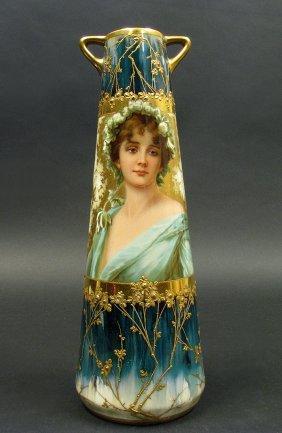 19th C. Royal Vienna Porcelain Urn