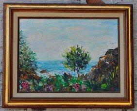 Vintage Colorful Impressionist Landscape Signed