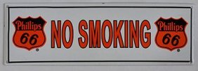 Phillips 66 Porcelain No Smoking Sign