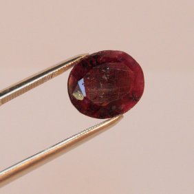 Beautiful Natural Oval Ruby 8.90 Cts.