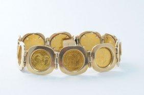 Cook Islands Endangered Wildlife Gold Coin Bracelet