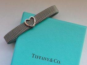 Tiffany & Co. Stainless Steel Somerset Heart Bracelet