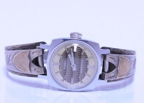 Vintage Timex Watch On Sterling Silver Band