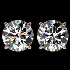 4.04 CTW Certified G-Si Quality Diamond Solitaire Stud