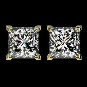 2.50 CTW Certified VS/SI Quality Princess Diamond Stud