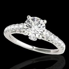 1.50 CTW G-Si Certified Diamond Solitaire Bridal Ring