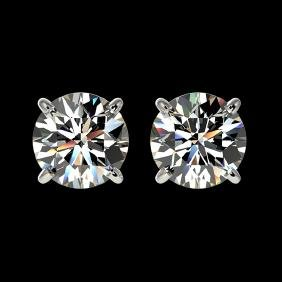 1.55 CTW Certified G-Si Quality Diamond Solitaire Stud
