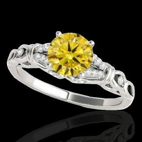 1.2 CTW Certified Si Fancy Intense Yellow Diamond