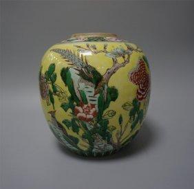 Chinese Porcelain Wucai Jar