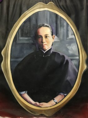 Chinese Oil Painting Of A Female Portrait