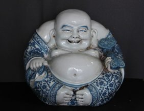 Chinese Porcelain B/w Buddha