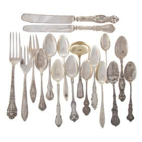 Assorted American sterling flatware 18 pieces