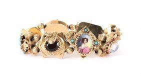 A Lady's Gold Victorian Slide Bracelet