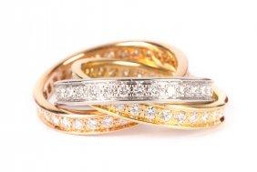 A Cartier Trinity Diamond Ring