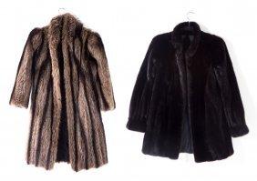A Lady's Mink Coat And A Raccoon Coat
