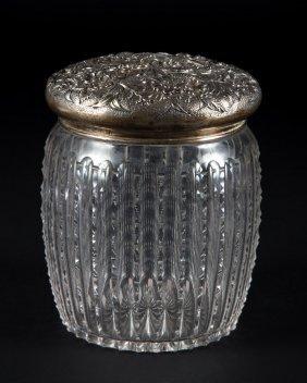 S. Kirk & Son Repousse Sterling Lidded Cracker Jar