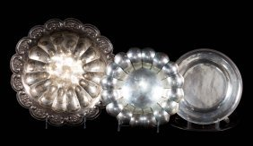 Group Of Mexican Sterling Silver Holloware