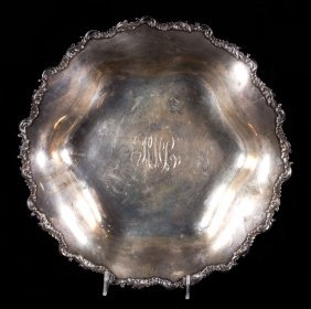 Rococo Revival Sterling Silver Serving Bowl
