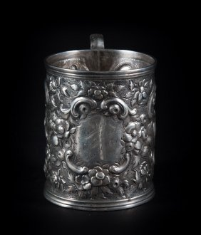 Kirk Repousse Coin Silver Mug C1865