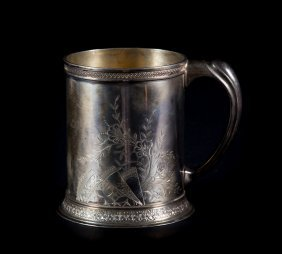 Whiting Aesthetic Style Sterling Silver Mug