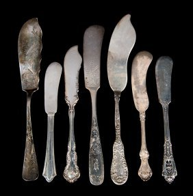 30 Assorted Sterling Silver Butter Knives