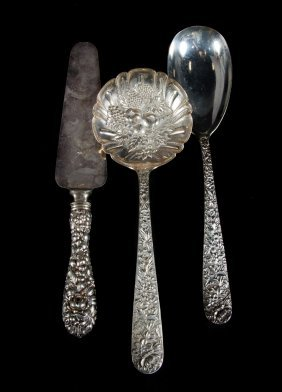 3 Kirk Stieff Sterling Serving Flatware Pieces