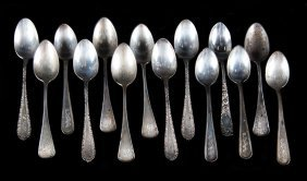 3 Sets Of Sterling Silver Demitasse Spoons