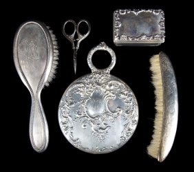5 Assorted Sterling Silver Vanity Items