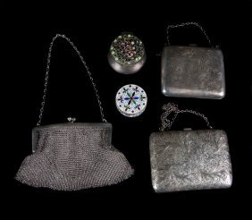 3 Victorian Lady's Sterling Minaudières